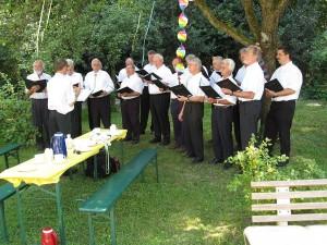 Sommerfest 2009 mit dem Mag'schen Männerchor